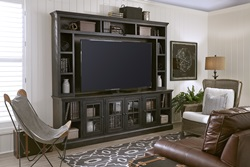Churchill Large Entertainment Center in Black