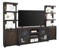 Avery Loft Entertainment Center with Open Piers in Black