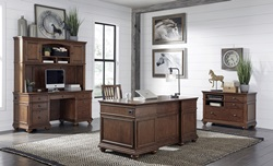 Oxford Computer Desk Set in Brown