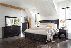 Oxford Black Panel Bedroom Set