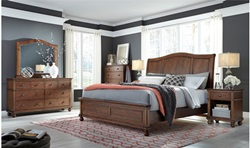 Oxford Brown Sleigh Bedroom Set