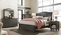 Oxford Peppercorn Sleigh Bedroom Set