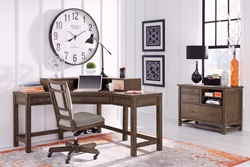 Terrace Point Corner Desk with Hutch