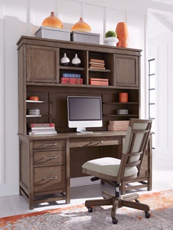Terrace Point Computer Desk with Hutch