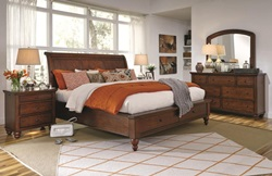 Cambridge Sleigh Storage Bedroom Set in Brown