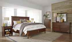 Cambridge Panel Bedroom Set in Brown
