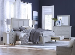 Cambridge Panel Storage Bedroom Set in Gray