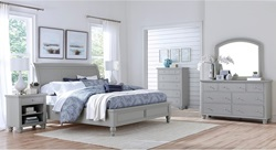 Cambridge Sleigh Bedroom Set in Grey