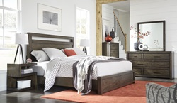 Modern Loft Brown Panel Bedroom Set