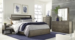 Modern Loft Grey Panel Bedroom Set