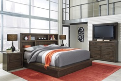 Modern Loft Brown Platform Bedroom Set