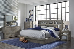 Modern Loft Grey Platform Bedroom Set
