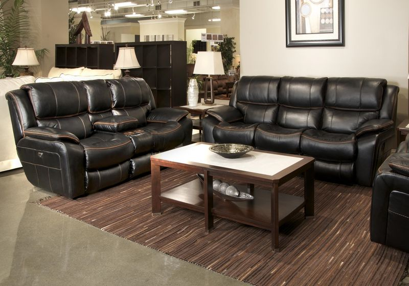 Beckett Reclining Living Room Set in Black