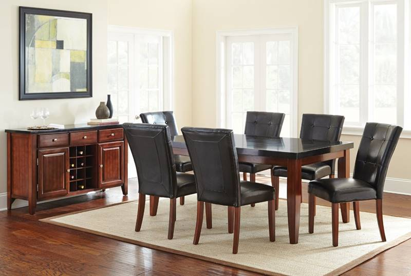 Bello Dining Table Set with Granite Top