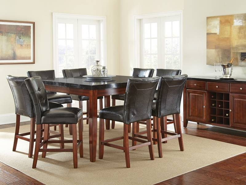Bello Pub Table Set with Granite Top ... & Dallas Designer Furniture | Bello Pub Table Set with Granite Top
