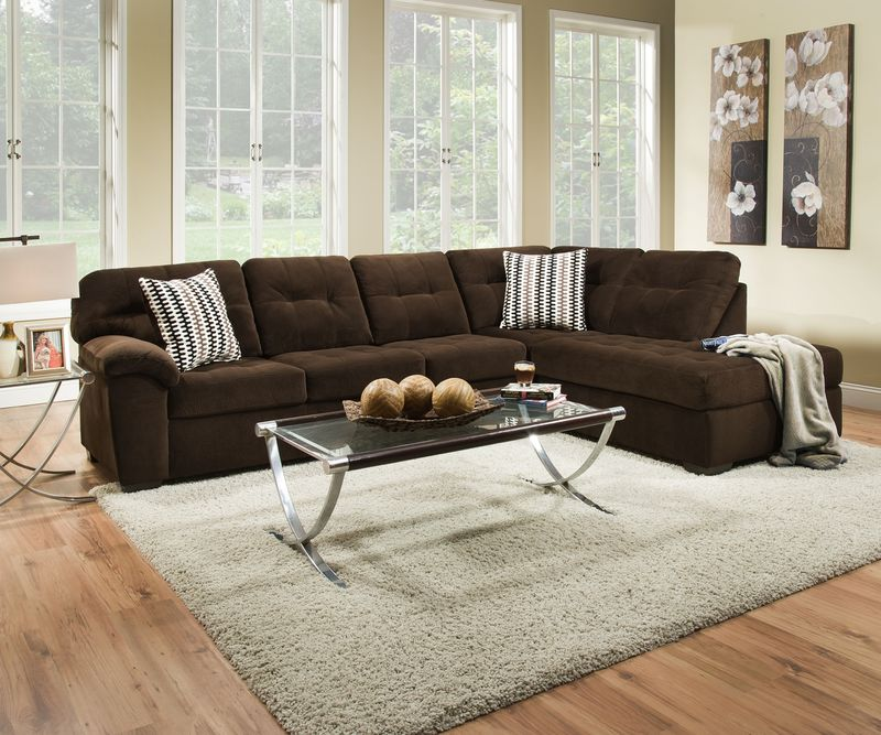 Bernie Godiva Sectional Sofa Set