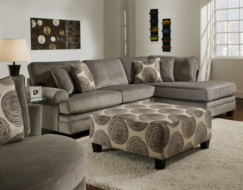 Swirl Sectional Sofa in Smoke