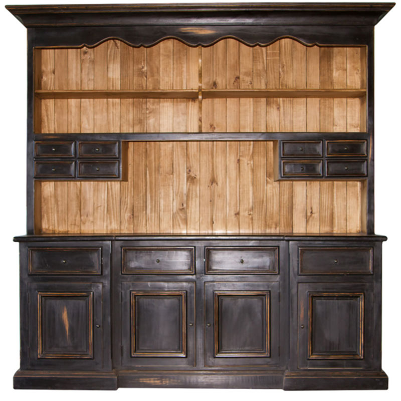 Black Rustic China Cabinet