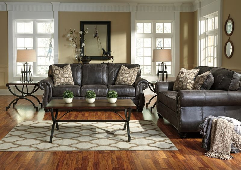 Breville Living Room Set in Charcoal