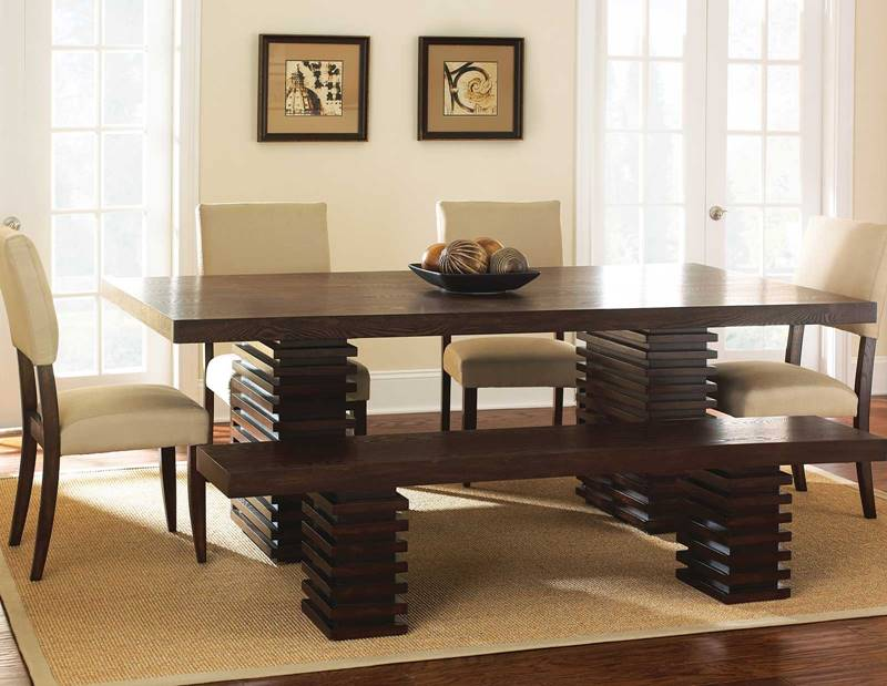 Briana Dining Table Set with Bench