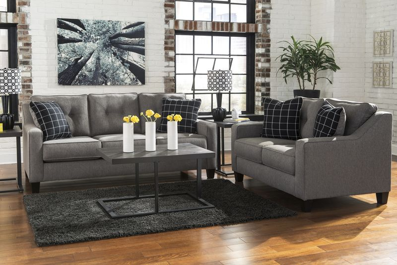 Brindon Charcoal Living Room Set