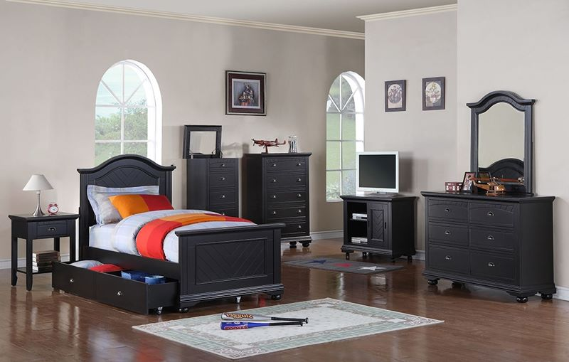 Brook Black Kids Bedroom Set