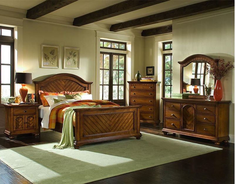 Brook Chestnut Bedroom Set