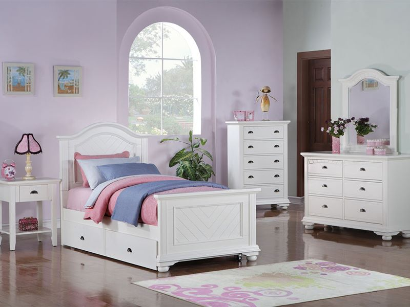 Dallas Designer Furniture Brook White Kids Bedroom Set