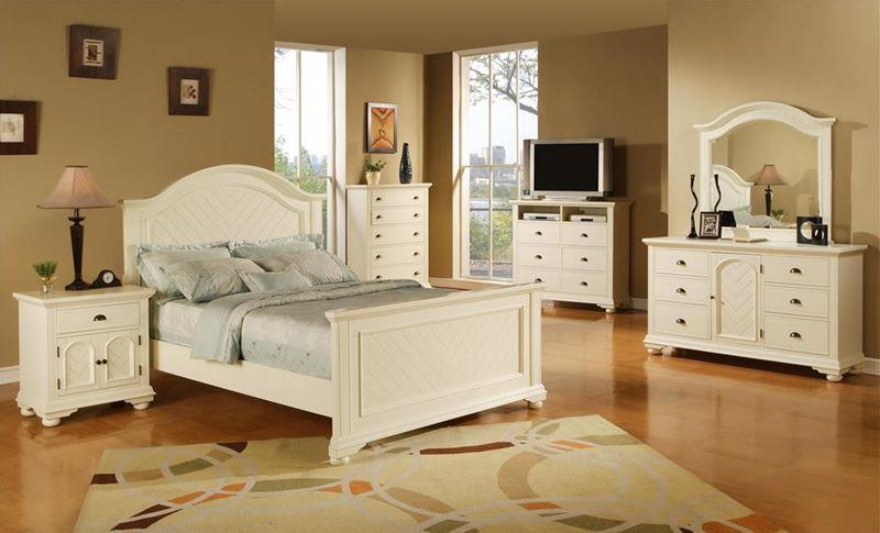 Elements | BP700 Brook White Bedroom Set | Dallas Designer Furniture