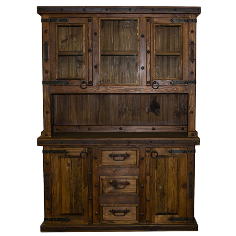 Rustic Brown China Cabinet