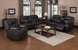 Lucky Ridge Reclining Living Room Set in Brown