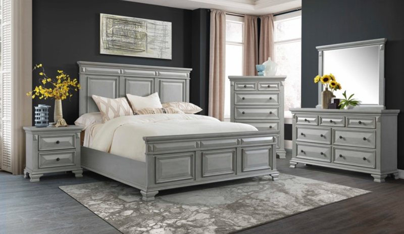 on sale cy300 calloway grey bedroom set | elements