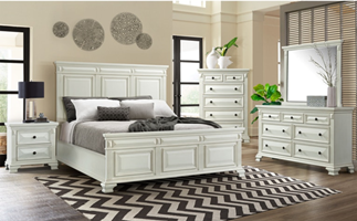 Calloway Bedroom Set in White