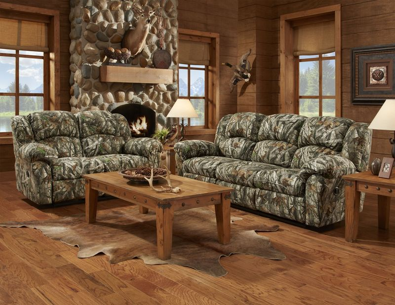 Camouflage Reclining Living Room Set