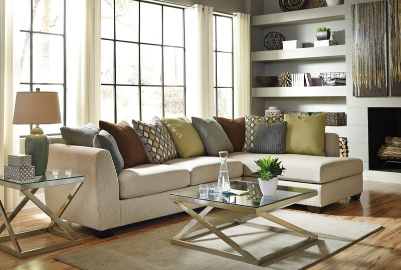 Casheral Sectional Sofa Set with RAF Chaise