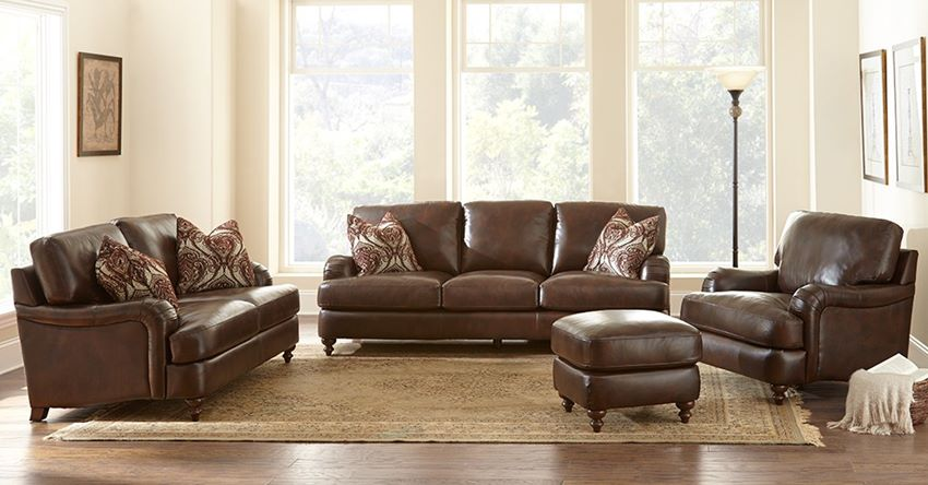 Charles Leather Living Room Set