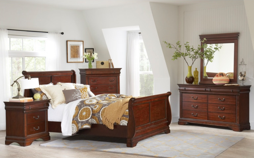 Chateau Bedroom Set with Sleigh Bed