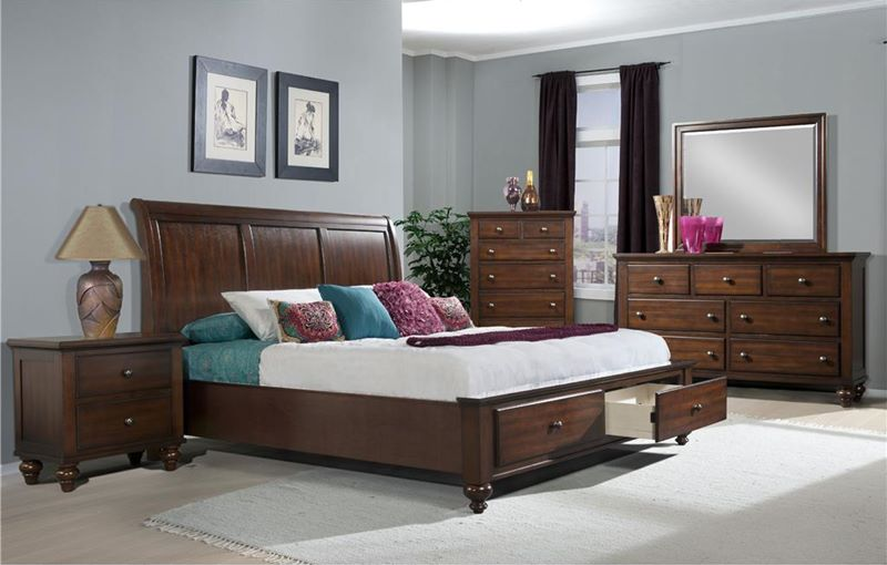 monroe queen el furniture coventry bed set dorado sets bedroom storage