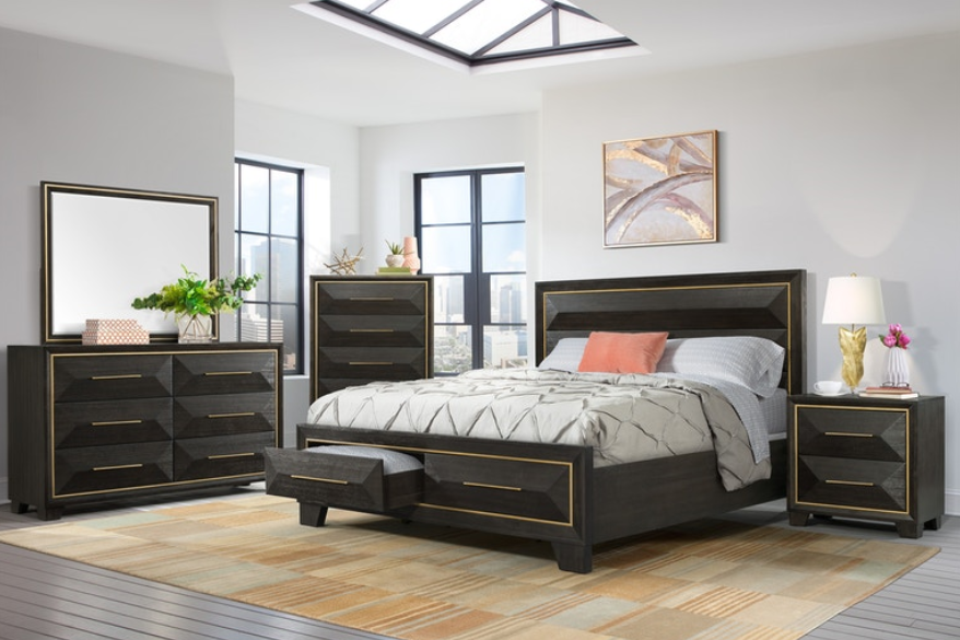 Clarke Bedroom Set with Storage Bed