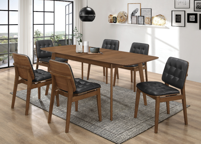 Redbridge Dining Room Set with Tufted Chairs