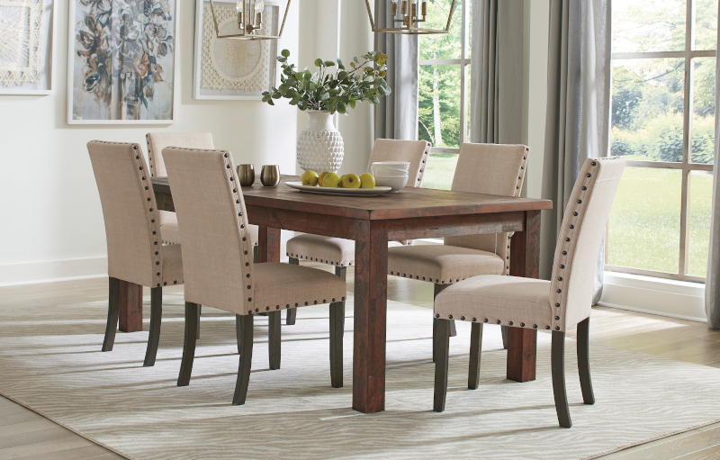 Coleman Dining Room Set with Parson Chairs