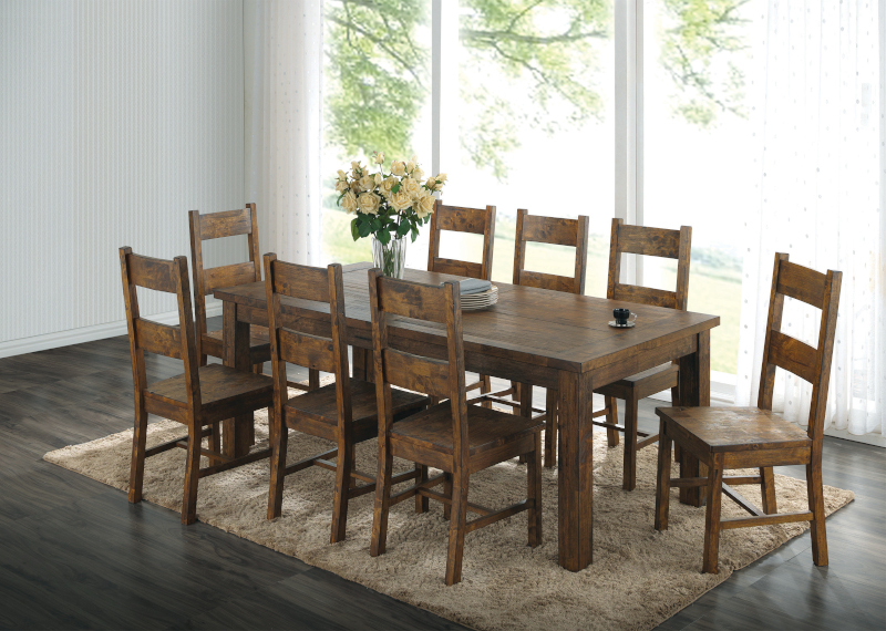 Coleman Dining Room Set with Ladder Back Chairs