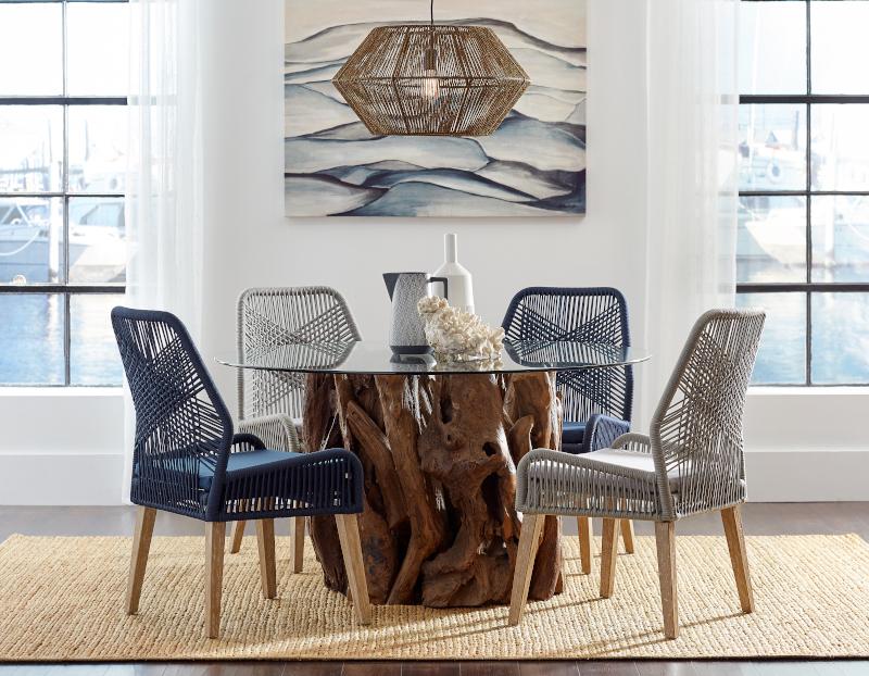 Asbury Large Round Dining Room Set