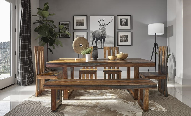 Paloma Dining Room Set in Grey