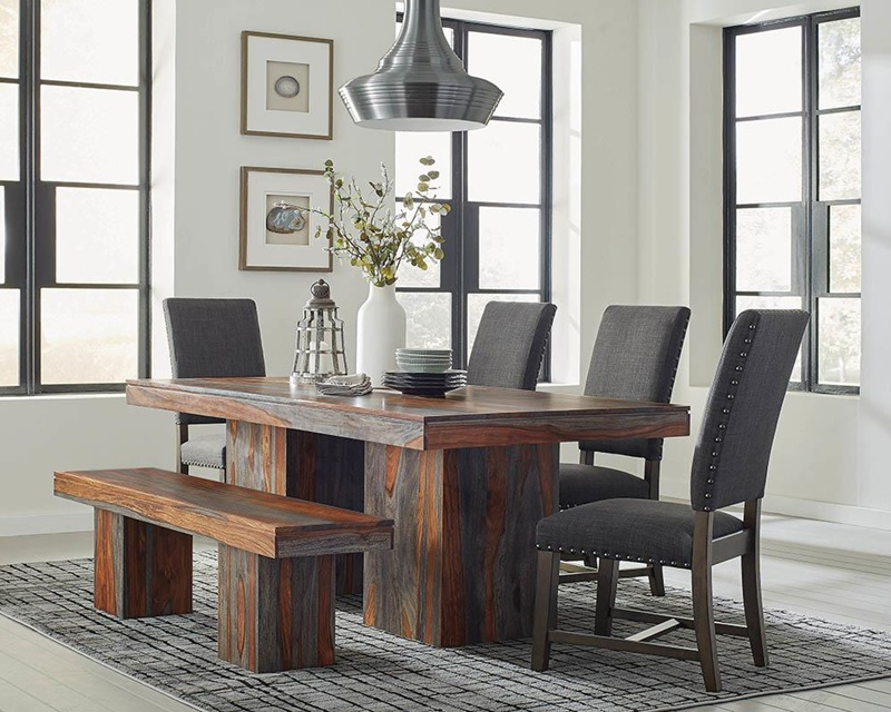 Townsend Dining Room Set with Warm Grey Chairs