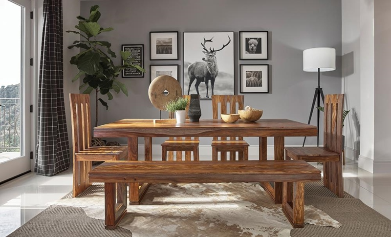 Paloma Dining Room Set in Rich Sienna