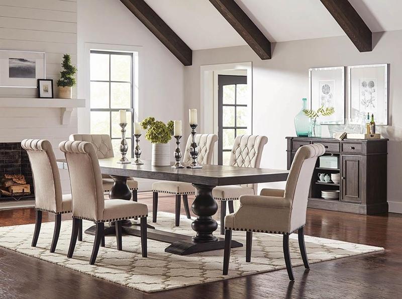 Phelps Formal Dining Room Set in Beige
