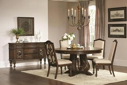 Ilana Formal Round Dining Room Set in Java