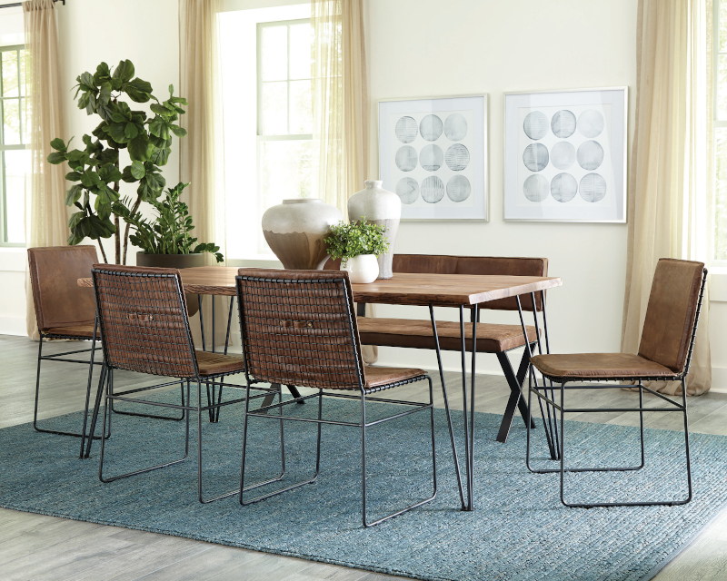 Sherman Dining Room Set with Sled Chairs