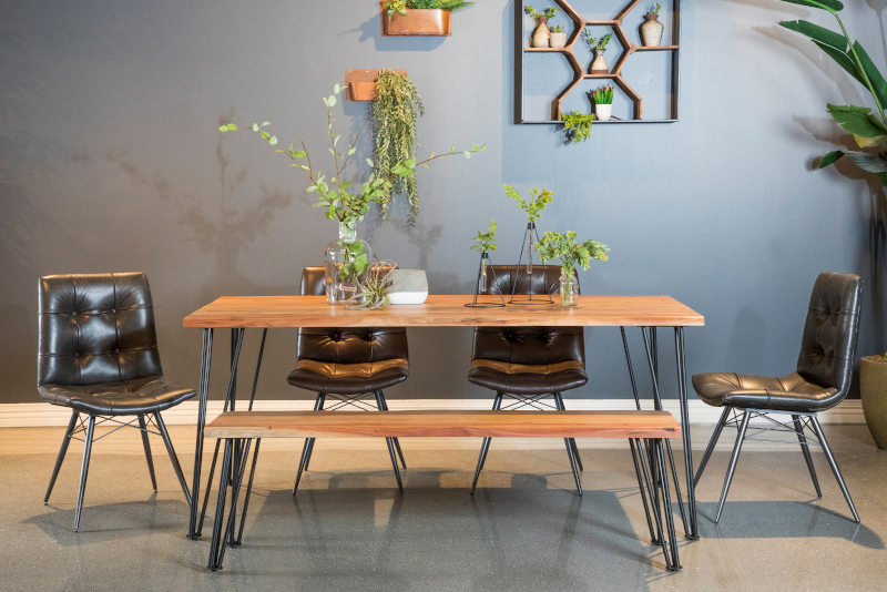 Sherman Dining Room Set with Tufted Chairs